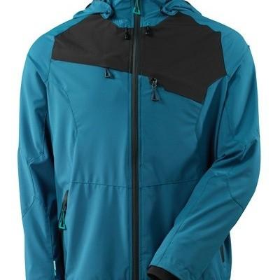 Foto van Jacket, four-way stretch, waterproof donker blauw/zwart