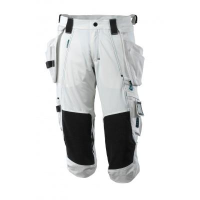 Driekwart broek, spijkerzakken, stretch | 17049-311 | 06-wit