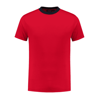 Indushirt TS 180 T-shirt rood-marine