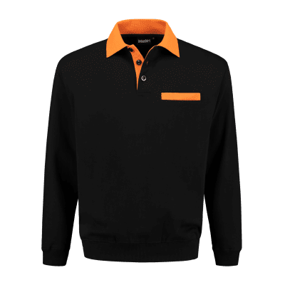 Foto van Indushirt PSW 300 Polosweater zwart-oranje