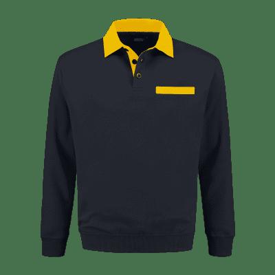 Foto van Indushirt PSW 300 Polosweater marine-geel