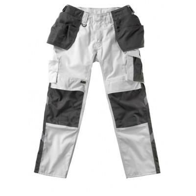 MASCOT Unique werkbroek met spijkerzakken wit/donker antraciet | 17631-442