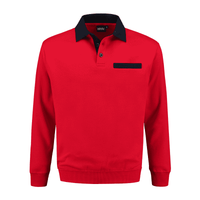 Foto van Indushirt PSW 300 Polosweater rood-marine