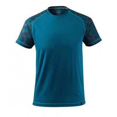 T-shirt, vochtafdrijvend,moderne pasvorm | 17482-944 | 044-donkerpetrol
