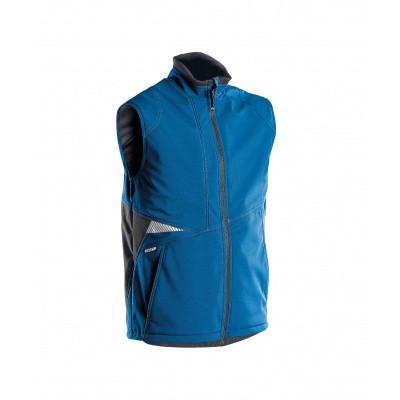Foto van Dassy bodywarmer softshell FUSION | 350111 | azuurblauw/antracietgrijs