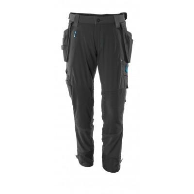 Foto van Broek, afneembare spijkerzakken, stretch | 17031-311 | 09-zwart