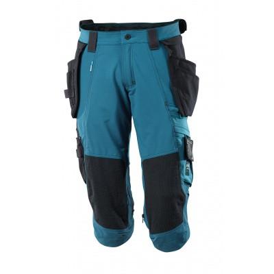 Driekwart broek, spijkerzakken, stretch | 17049-311 | 044-donkerpetrol