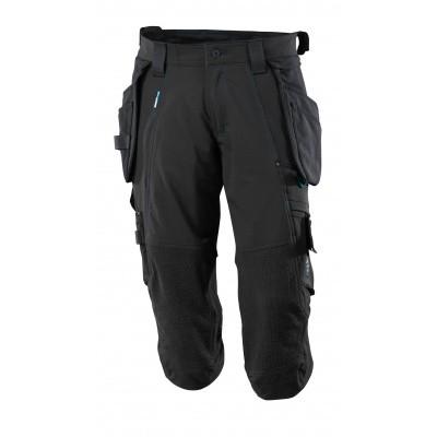 Driekwart broek, spijkerzakken, stretch | 17049-311 | 09-zwart