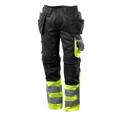 Foto van Broek met spijkerzakken, klasse 1 | 17531-860 | 0917-zwart/hi-vis geel