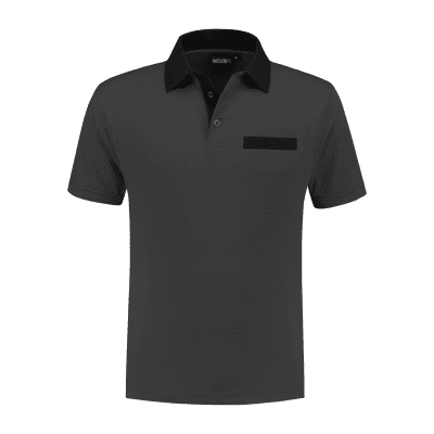 Indushirt PS 200 Polo-shirt antraciet-zwart