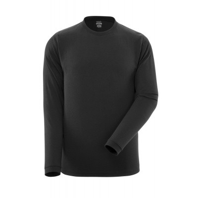 T-shirt, lange mouwen, moderne pasvorm | 18581-965 | 09-zwart