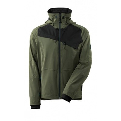Foto van Jacket, four-way stretch, waterproof mos groen/zwart