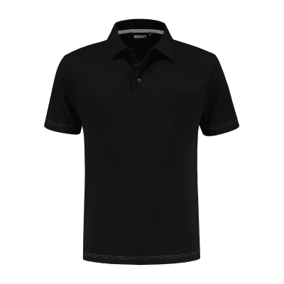 Foto van Indushirt PS 200 Polo-shirt zwart