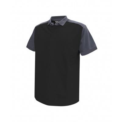 Dassy polo CESAR | 710004 | zwart/cementgrijs