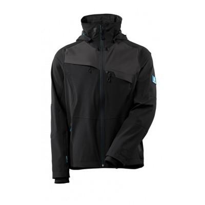 Foto van Jacket, four-way stretch, waterproof zwart donker/antraciet