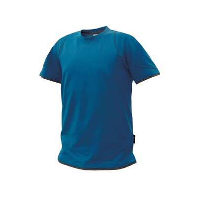 Dassy t-shirt KINETIC | 710019 | azuurblauw/antracietgrijs