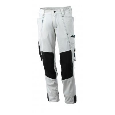 Mascot werkbroek met kniezakken, stretch, lichtgewicht | 17179-311 | 06-wit