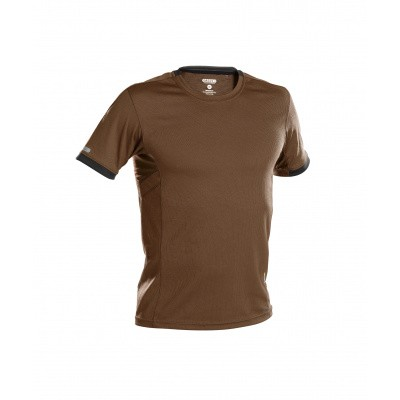 Foto van Dassy t-shirt NEXUS | 710025 | leembruin/antracietgrijs