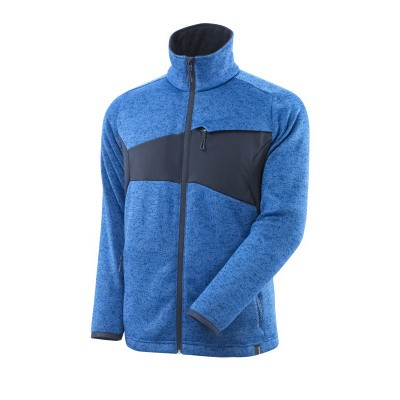 Mascot 18105-951 Gebreide trui met rits azur blauw/donker marine