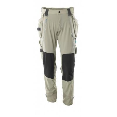 Foto van Broek, afneembare spijkerzakken, stretch | 17031-311 | 055-lichtkhaki