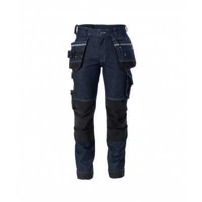 Foto van Dassy stretch broek MELBOURNE | 200953 | jeansblauw/zwart
