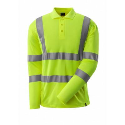 Poloshirt, lange mouwen, klasse 3 | 18283-995 | 017-hi-vis geel