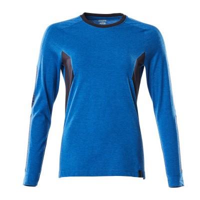 Mascot 18391-959 T-shirt, met lange mouwen azur blauw/donker marine