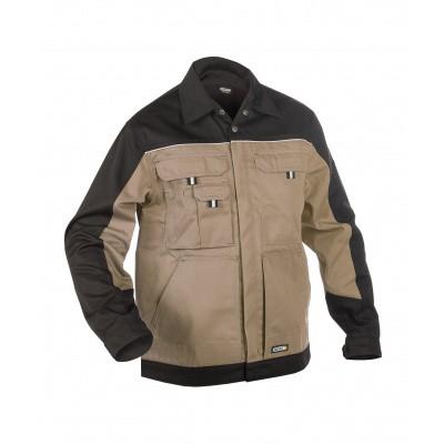 Foto van Dassy werkjack LUGANO   300183   beige/zwart