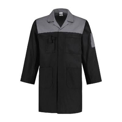 Stofjas 2-kleurig 100% katoen| SJ1002KL | 0988-zwart/grijs