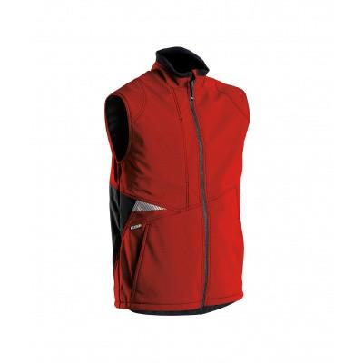 Foto van Dassy bodywarmer softshell FUSION | 350111 | rood/zwart