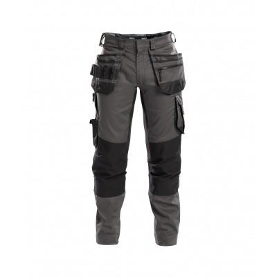 Foto van Dassy stretch broek FLUX | 200975 | antracietgrijs/zwart