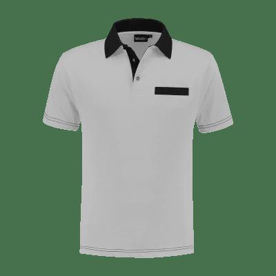 Foto van Indushirt PS 200 Polo-shirt grijs-zwart