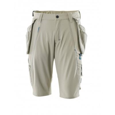Shorts, afneembare spijkerzakken,stretch | 17149-311 | 055-lichtkhaki