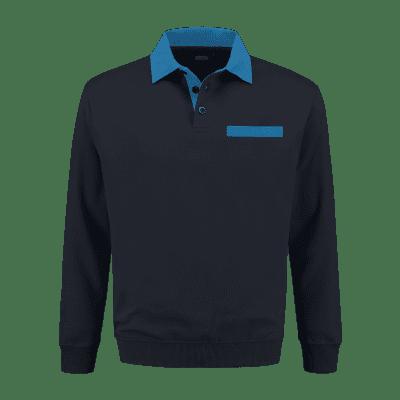 Foto van Indushirt PSW 300 Polosweater marine-korenblauw