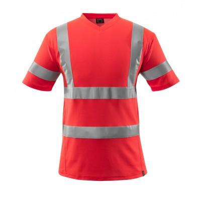 T-shirt, V-hals, klasse 2 | 18282-995 | 0222-hi-vis rood