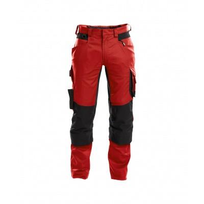 Foto van Dassy stretch broek DYNAX | 200980 | rood/zwart