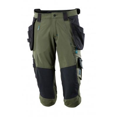 Foto van Driekwart broek, spijkerzakken, stretch | 17049-311 | 033-mosgroen