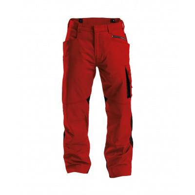 Foto van Dassy stretch broek SPECTRUM | 200892 | rood/zwart
