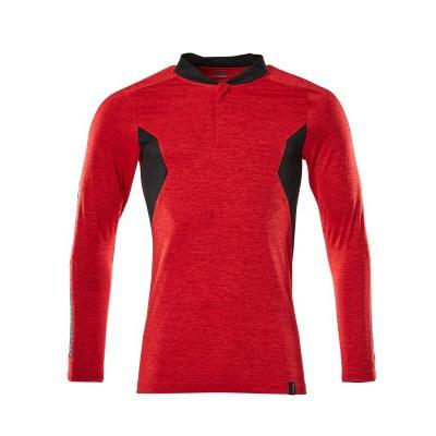 Foto van Mascot 18081-810 Poloshirt, met lange mouwen signaal rood/zwart