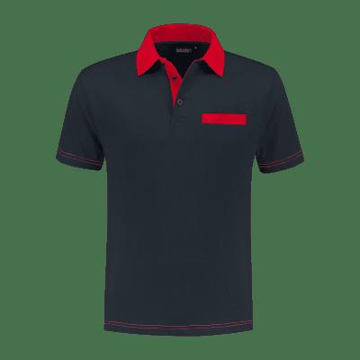 Foto van Indushirt PS 200 Polo-shirt marine-rood