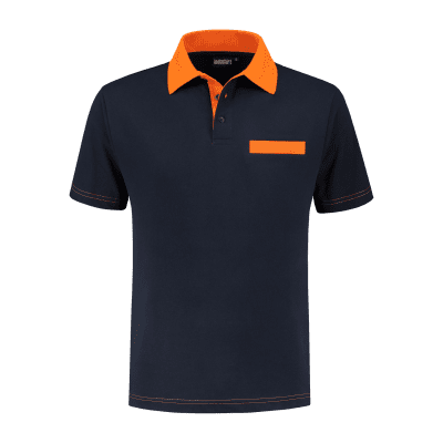Indushirt PS 200 Polo-shirt marine-oranje