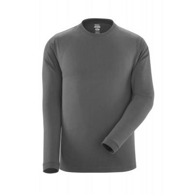 T-shirt, lange mouwen, moderne pasvorm | 18581-965 | 018-donkerantraciet