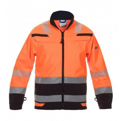 Foto van Hydrowear Telford softshelljack EN471 | 04025985-149 | oranje/zwart