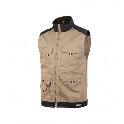 Dassy bodywarmer FARO | 350077 | beige/zwart