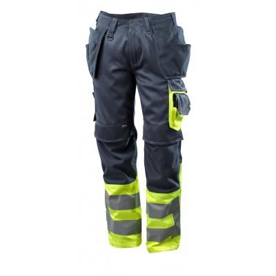Broek met spijkerzakken, klasse 1 | 17531-860 | 01017-donkermarine/hi-vis geel