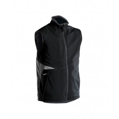 Foto van Dassy bodywarmer softshell FUSION | 350111 | zwart/antracietgrijs