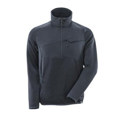 Mascot 18003 Fleece sweater met halve rits donker marine
