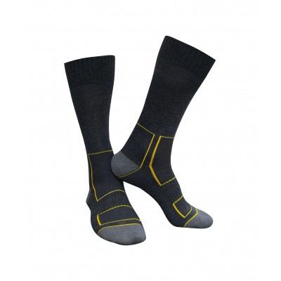 Foto van Dassy wollen sokken JUNO | 720002 | zwart/antracietgrijs
