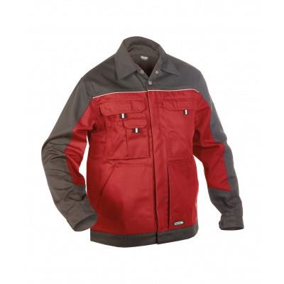 Dassy werkjack LUGANO | 300183 | rood/cementgrijs