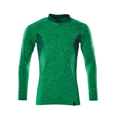 Mascot 18081-810 Poloshirt, met lange mouwen gras groen/groen